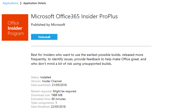 Deploying Office 365 ProPlus Insider in the Enterprise
